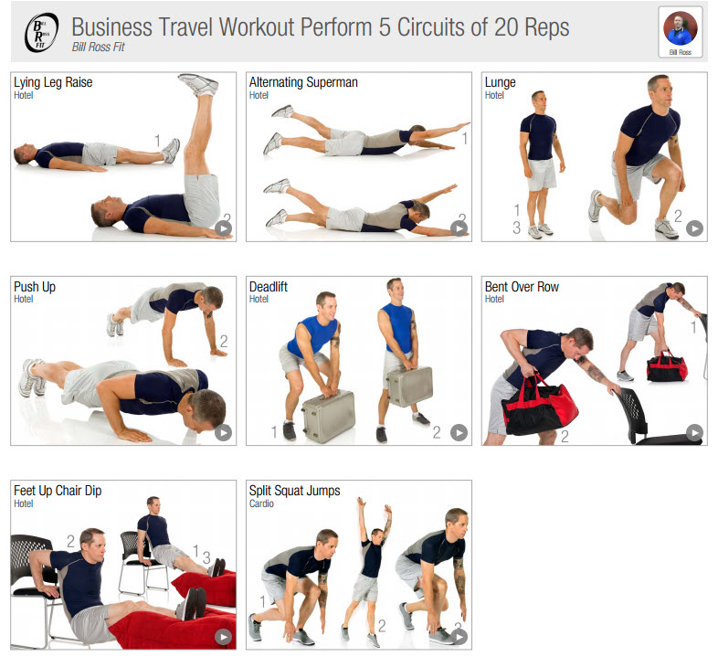 Workouts For Business Travellers